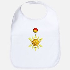 Yellow Sun Smiley With A Ball Bib