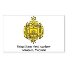 USNA Crest Rectangle Decal