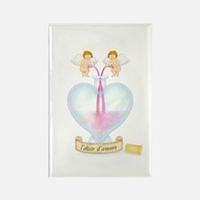 Cupids Making Love Potion Rectangle Magnet