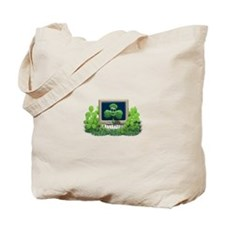 Green Shamrock On A Computer Smiley Tote Bag