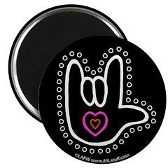 B/W Bold Love Hand Black 2.25