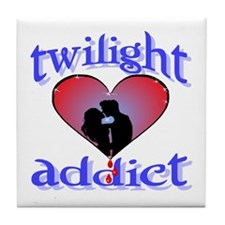 twilight addict /blues Tile Coaster
