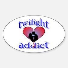 twilight addict /blues Oval Decal