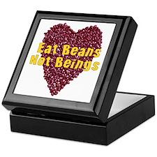 Eat Beans Not Beings Keepsake Box