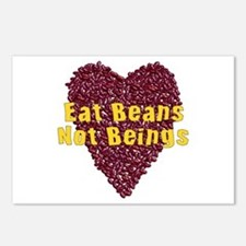 Eat Beans Not Beings Postcards (Package of 8)