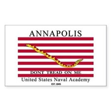USNA Don't Tread on Me Rectangle Decal