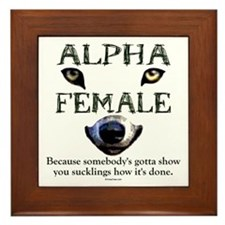 Alpha Female Framed Tile