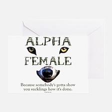 Alpha Female Greeting Card