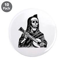 """Calavera con Gitarra 3.5"""" Button (10 pack)"""
