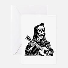 Calavera con Gitarra Greeting Card