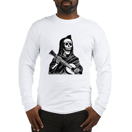 Calavera con Gitarra Long Sleeve T-Shirt
