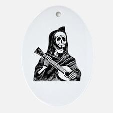 Calavera con Gitarra Oval Ornament