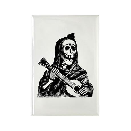 Calavera con Gitarra Rectangle Magnet (100 pack)