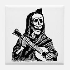 Calavera con Gitarra Tile Coaster