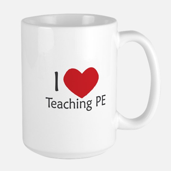 I heart Phys ed Large Mug