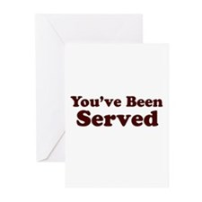 You've Been Served Greeting Cards (Pk of 10)