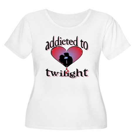 Addicted to twilight /BR Women's Plus Size Scoop N