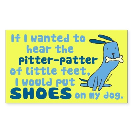 Pitter-Patter Dog Rectangle Sticker