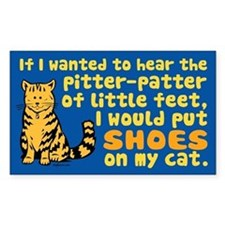 Pitter Patter Cat Rectangle Decal