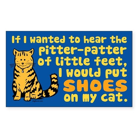 Pitter Patter Cat Rectangle Sticker