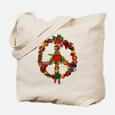 Veggie Peace Sign Tote Bag