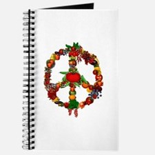 Veggie Peace Sign Journal