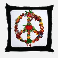 Veggie Peace Sign Throw Pillow
