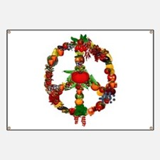 Veggie Peace Sign Banner