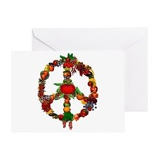 Veggie Peace Sign Greeting Card