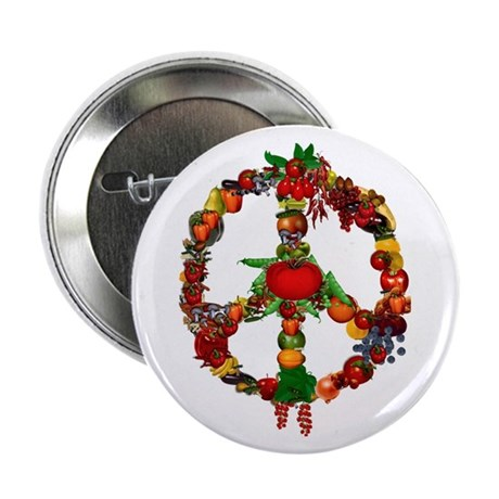 "Veggie Peace Sign 2.25"" Button (10 pack)"