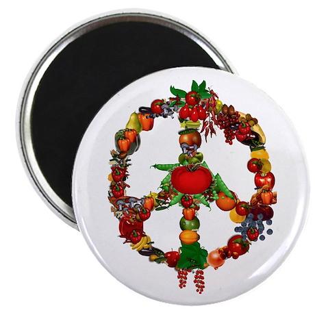 "Veggie Peace Sign 2.25"" Magnet (10 pack)"