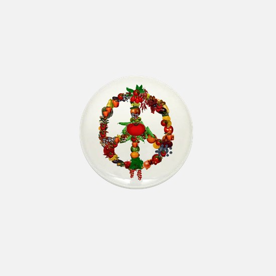 Veggie Peace Sign Mini Button (10 pack)