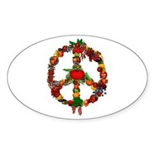 Veggie Peace Sign Decal