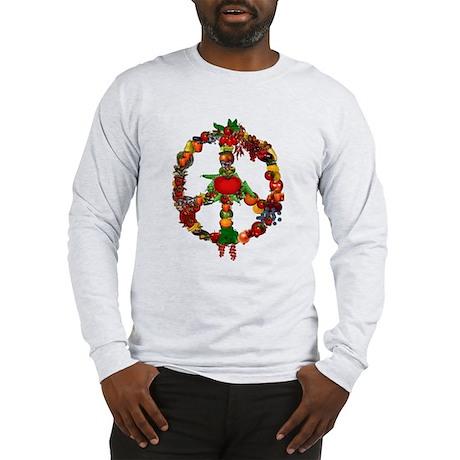 Veggie Peace Sign Long Sleeve T-Shirt