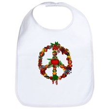 Veggie Peace Sign Bib