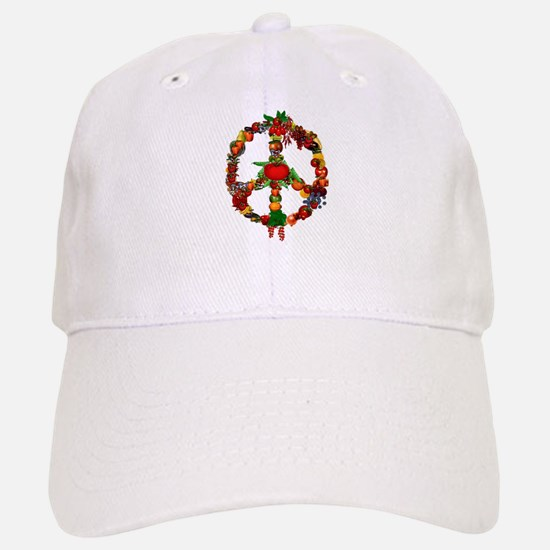 Veggie Peace Sign Baseball Baseball Cap