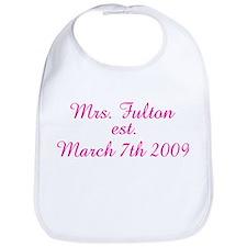 Mrs. Fulton est. March 7th Bib