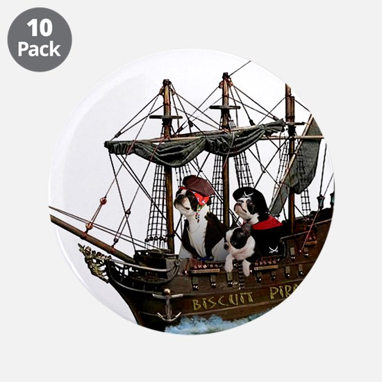 """Biscuit Pirates 3.5"""" Button (10 pack)"""