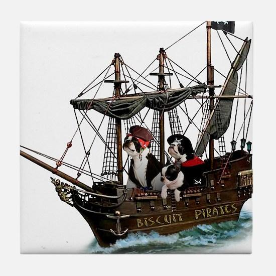 Biscuit Pirates Tile Coaster