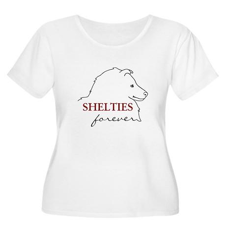 Shelties Forever Women's Plus Size Scoop Neck T-Sh