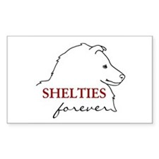 Shelties Forever Rectangle Decal