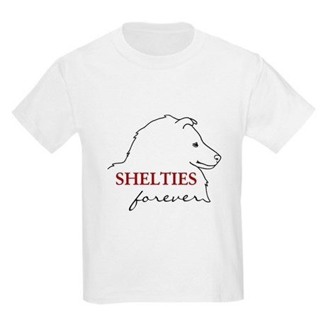 Shelties Forever Kids Light T-Shirt