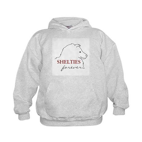Shelties Forever Kids Hoodie