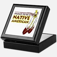 Proud To Be Native American Keepsake Box