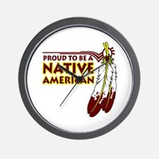 Proud To Be Native American Wall Clock