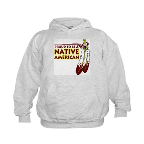 Proud To Be Native American Kids Hoodie