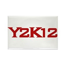 Y2K12 Red Rectangle Magnet