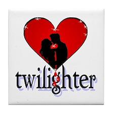 twilighter /red Tile Coaster