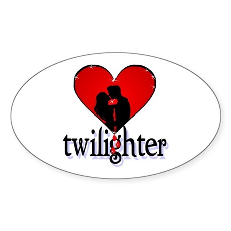 twilighter /red Oval Sticker
