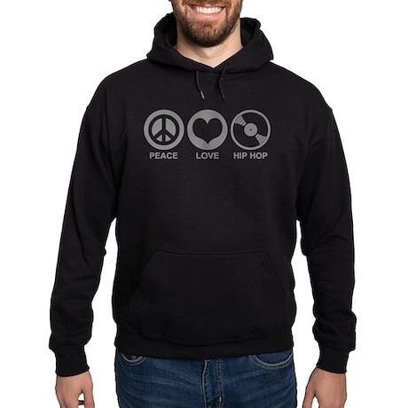 Peace Love Hip Hop Hoodie (dark)